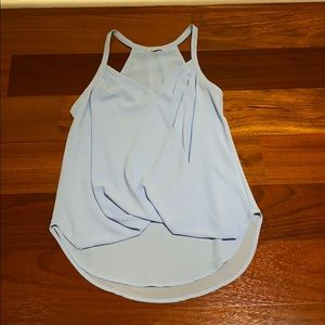 light blue blouse